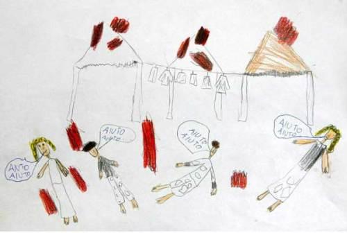 disegno di un bambino di Ponticelli